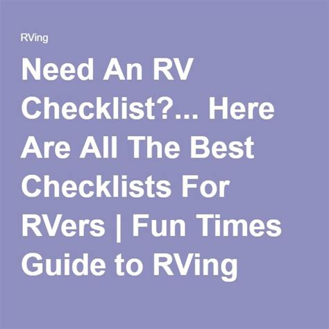 rv living an essential guide to time rving and motorhome living books best 25 rv checklist ideas on rv cing