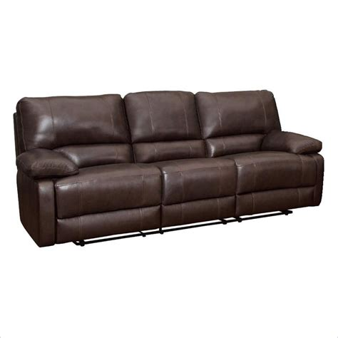 Coaster Reclining Sofa Coaster Geri Transitional Reclining Motion Sofa In Leather Match Brown 600021s