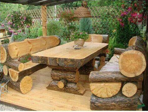 log outdoor furniture log rustic home crazy humor me