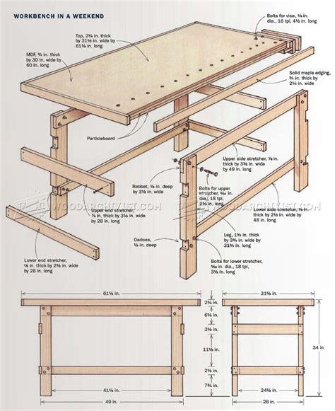 simple wood bench designs simple workbench plans woodarchivist