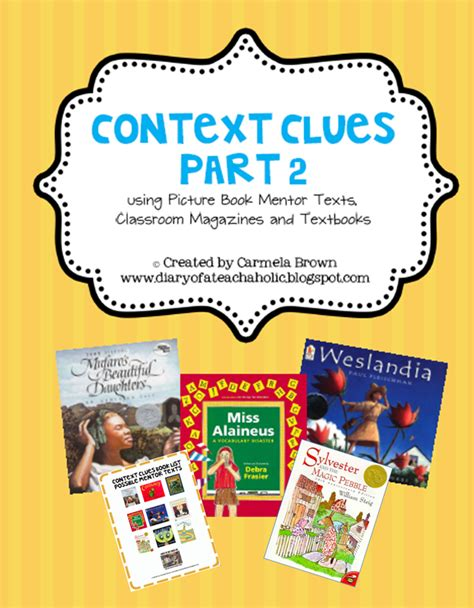 picture books to teach context clues the diary of a teachaholic september 2012