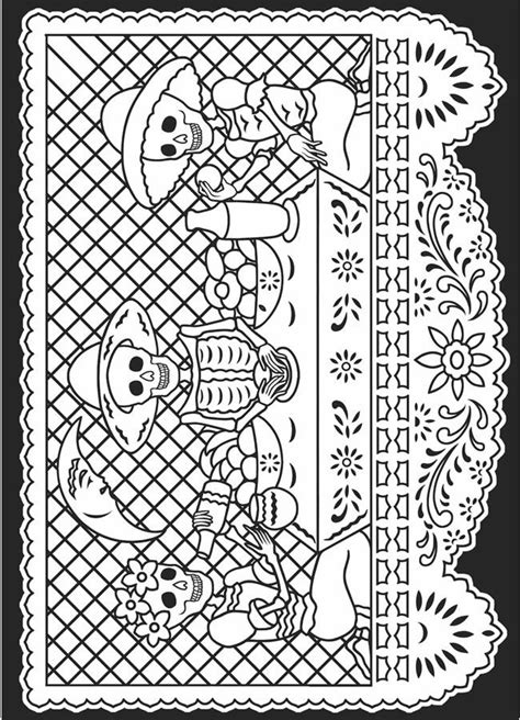 day of the dead coloring pages dia de los muertos