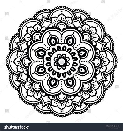 indian henna tattoo vector indian henna pattern background mehndi stock vector