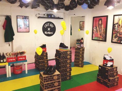 lazy locations lazy oaf x kickers launch in store lazy oaf journal