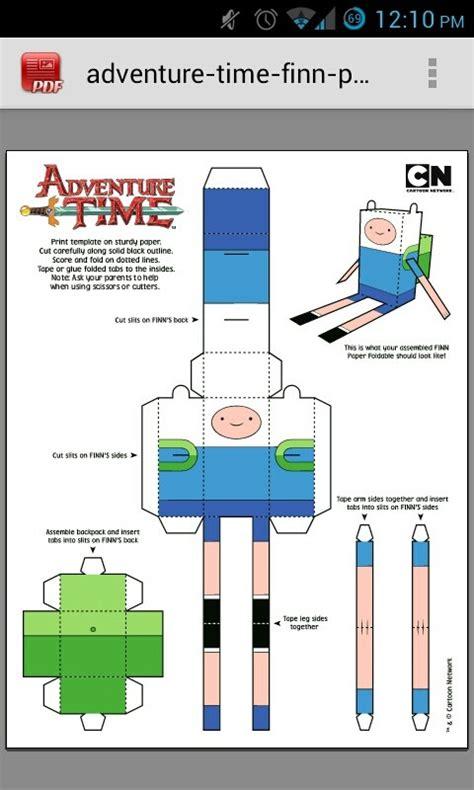 Papercraft Adventure Time Finn Pixshark Images