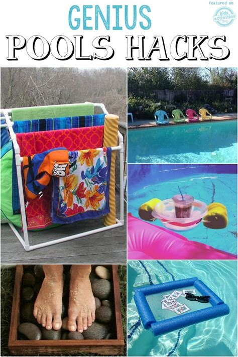 backyard hacks pool hacks coolest pool toys ever backyard yards and