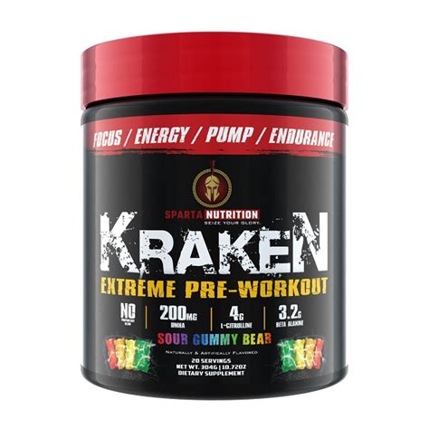 kraken pre workout 20sv sparta nutrition i supplements 174