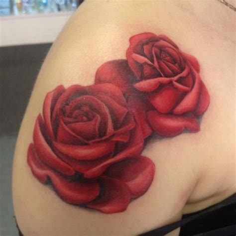 rose tattoo realistic pin pin realistic blue flower bud on neck