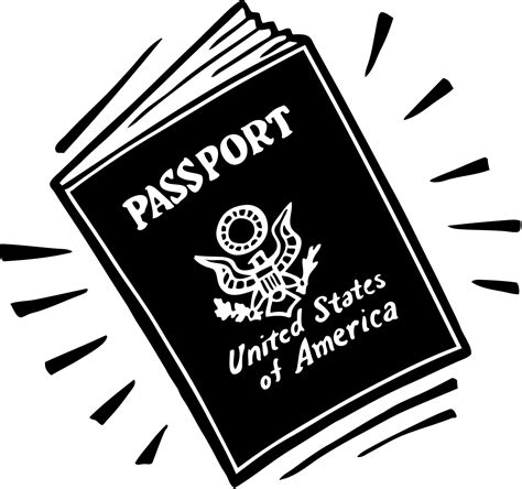 passport clipart clipground