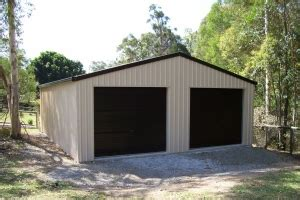 Garage Shelving Toowoomba Garages Colorbond Garage For 2 Cars 6x6 More