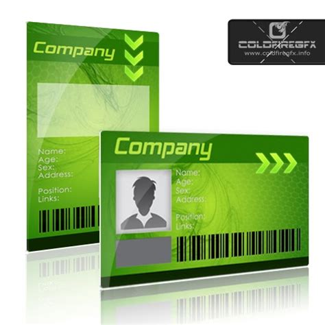 green card photoshop template business id card psd template 171 xonekdesign
