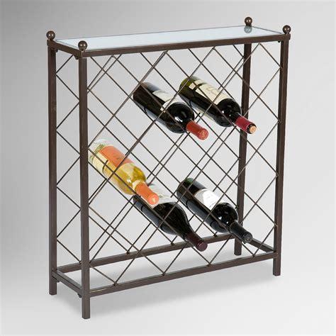 25 Bottle Wine Rack kenley 25 bottle wine rack world market