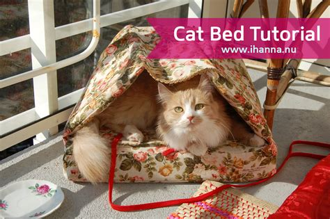 how to make a cat bed how to sew a cat bed ihanna s blog