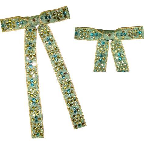rhinestone bow tie vintage western from lakegirlvintage