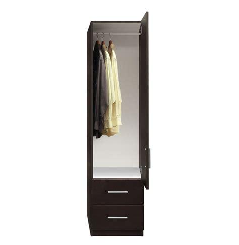 Narrow Mirrored Wardrobe Alta Narrow Wardrobe Closet Right Door 2 Exterior