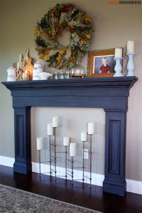 Blue Mantle Fireplaces by Faux Fireplace Mantel Surround Faux Fireplace Fireplace