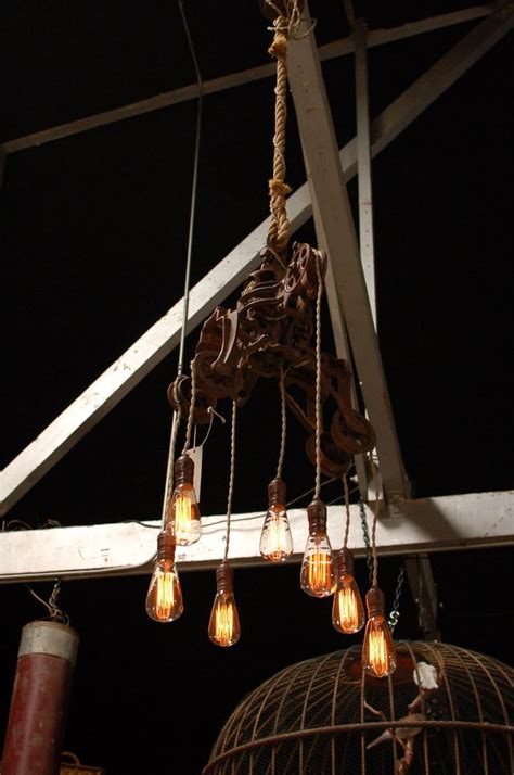 Custom Light Fixture 17 Best Images About Big S Antiques Custom Lighting On Pinterest Pulley Light Lighting