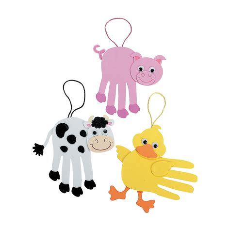 farm animal crafts for handprint animal crafts for