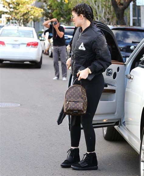 Jaket Adidas Pm jenner out in palace jacket yeezy boost sneakers