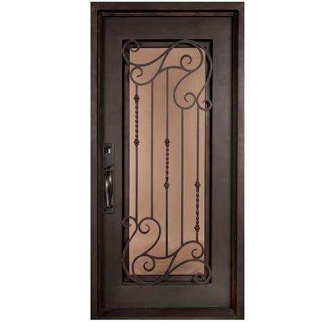 Iron doors unlimited 46 in x 97 5 in armonia classic full lite painted oil rubbed bronze