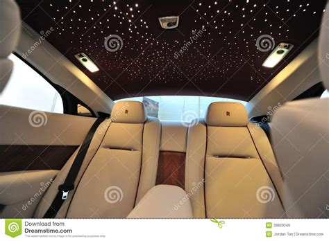 roll royce leather rear leather seats with star ceiling of the rolls royce