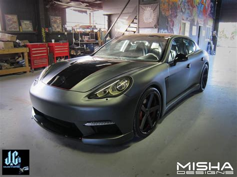 porsche panamera matte red misha designs panamera body kit to be unveiled at sema