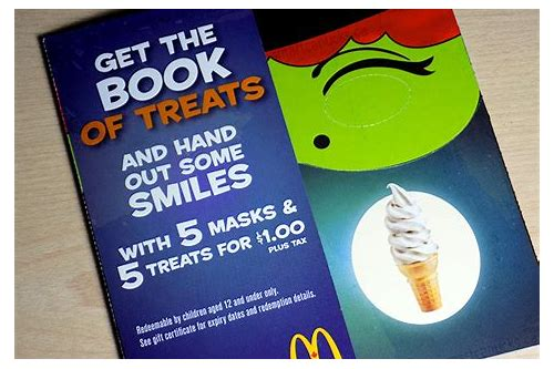 mcdonald coupon books