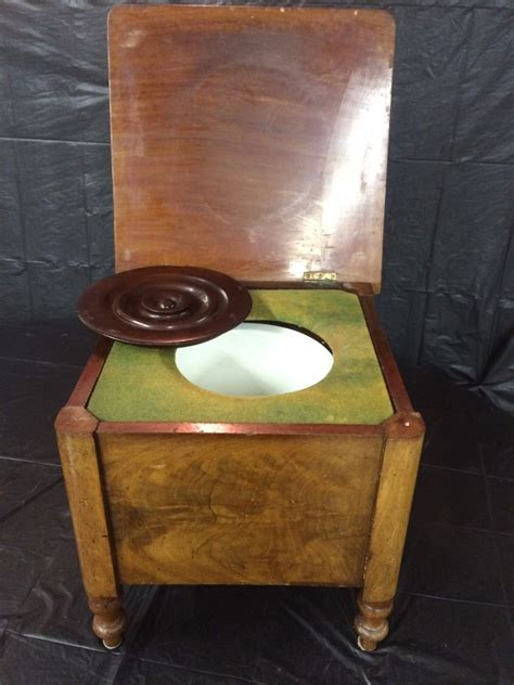 Commode Pot by Antique Chamber Pot Commode