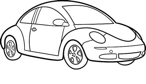 simple coloring pages cars easy car design drawings sketch coloring page