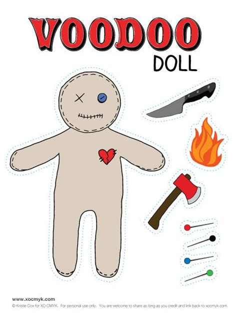 How To Make A Paper Voodoo Doll - 21 best images about free printables on free