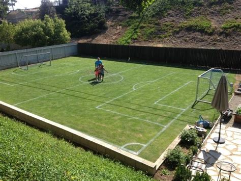 play backyard soccer private soccer field to the side of my house great to