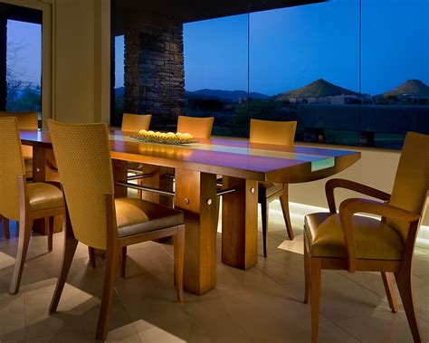 Modern dining table sets dining room contemporary with centerpiece glass inlay glass