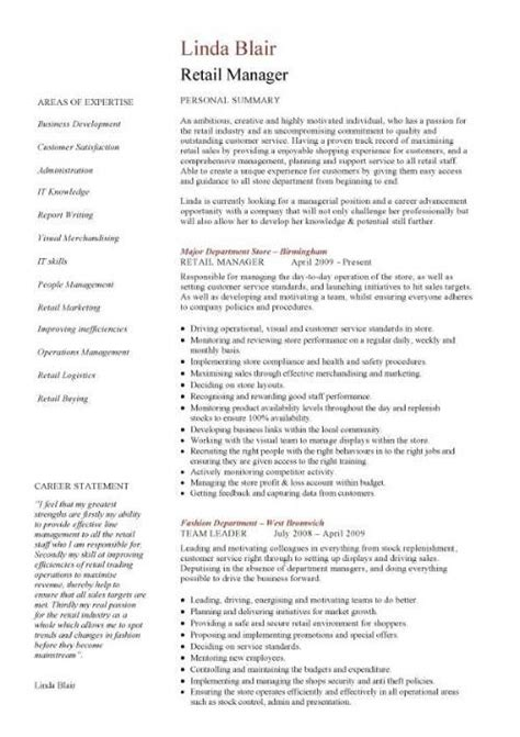 Resume Tips Retail Retail Cv Template Sales Environment Sales Assistant Cv Shop Work Store Manager Resume All