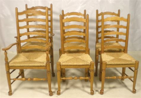 Dining Room Chairs Light Wood Set Of Six Light Wood Ladderback Dining Chairs Sold