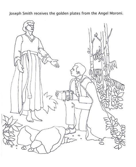 moroni coloring page coloring pages