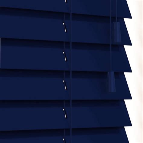 Small Kitchen Units Uk - luxury gloss navy blue wooden blinds 50mm made to measure