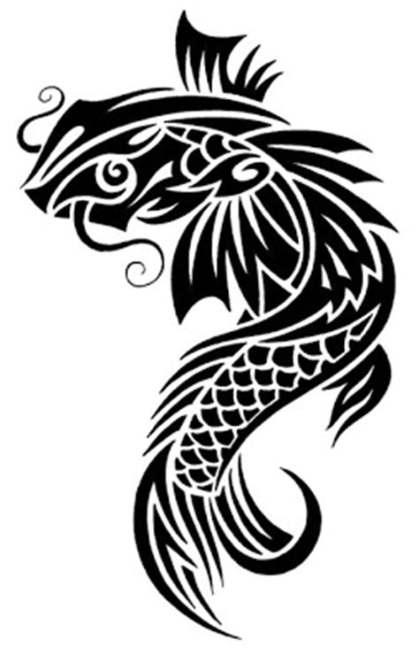 tribal koi tattoo koi fish black and white designs of animal