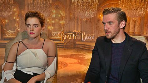 beauty and the beast clip reveals making of belle s gown beauty and the beast cast reveals their favorite disney