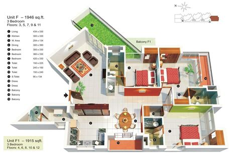 2 schlafzimmer haus blueprints house plan 3d 3 bedroom apartment 2000 square