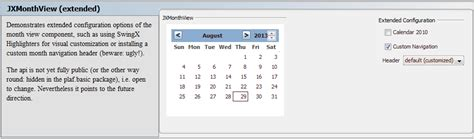 swing date picker java swing jxdatepicker stack overflow