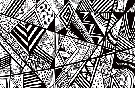 black and white fashion pattern black white abstract pattern vector line drawing graphic