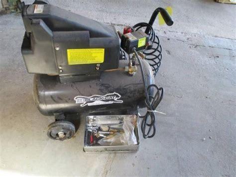 black cat 6gal air compressor w attachments