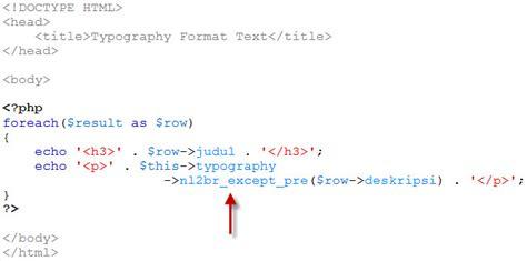 untuk mengatur format huruf adalah mengatur format teks dengan codeigniter