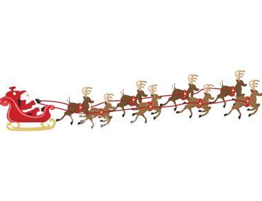 Santa Reindeer Border Clipart - Clipart Suggest Free Clip Art Santa And Reindeer