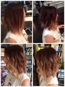 how to cut a medium bob haircut trendy ombre wavy bob cut for medium length hair