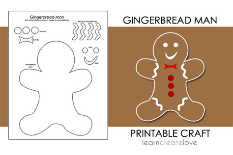 gingerbread man printable activities for preschool printable gingerbread man craft