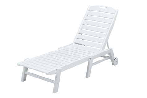 polywood chaise lounge sale polywood nautical armless chaise lounge with wheels