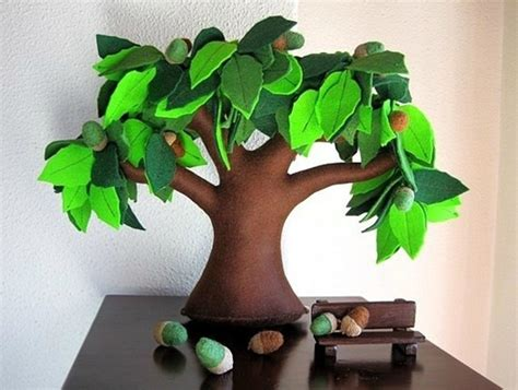 Handmade Trees - wonderful diy handmade felt trees