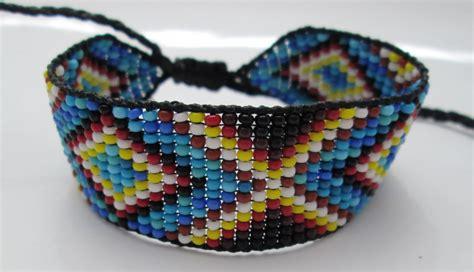 huichol american inspired beaded bracelet or anklet