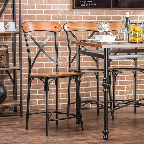 studio wire counter stool baxton studio broxburn light brown wood and metal 2